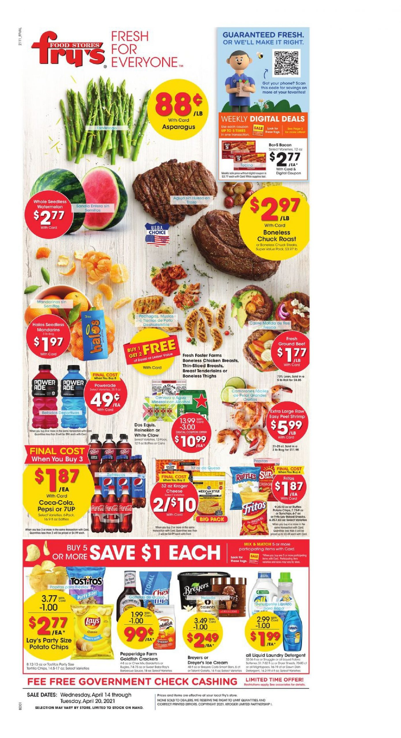 Fry's Food Weekly Ad Valid Apr 14 – Apr 20, 2021 Early ad Preview
