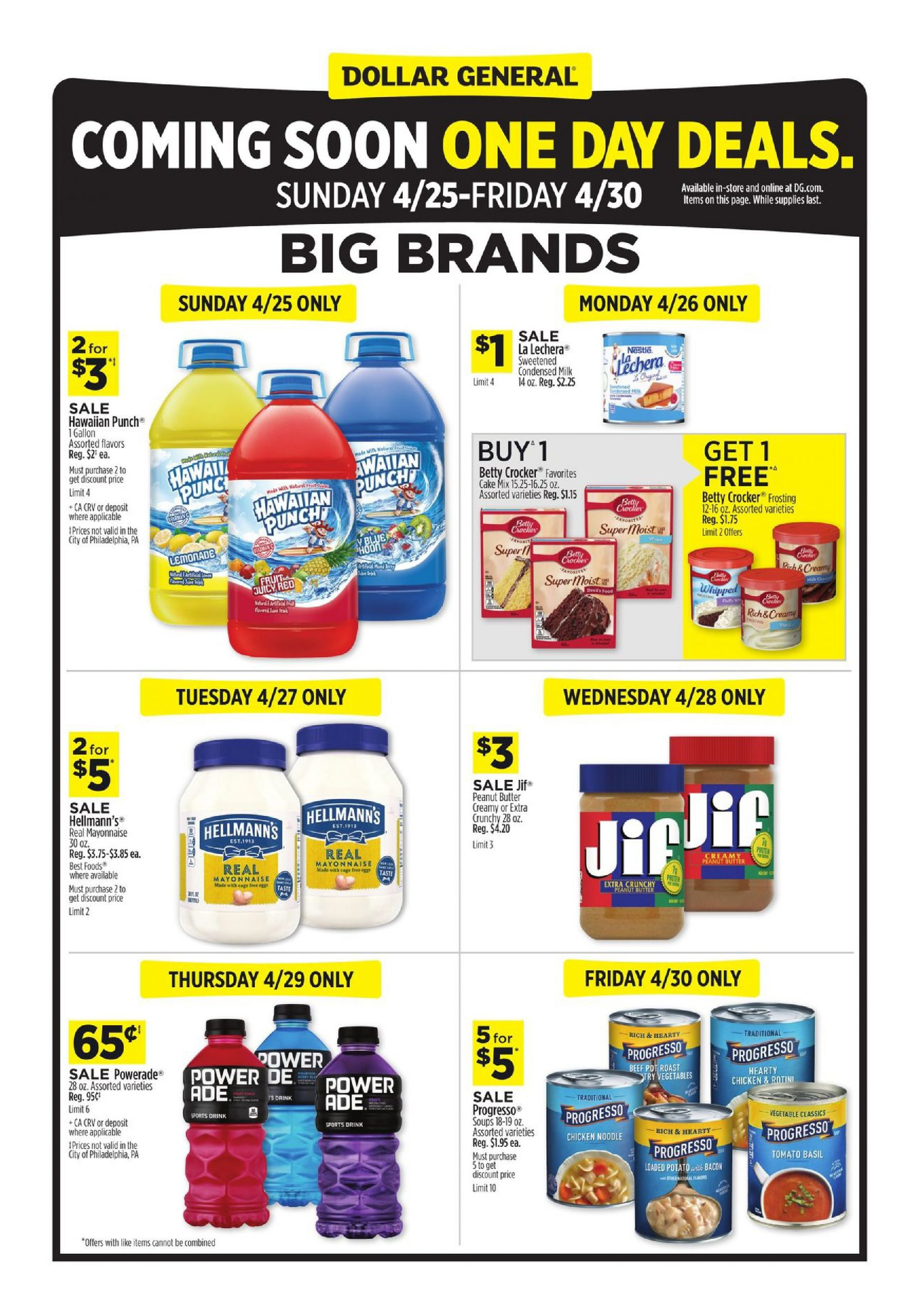 Dollar General Friday One Day Only Deals April 25 – April 30, 2021