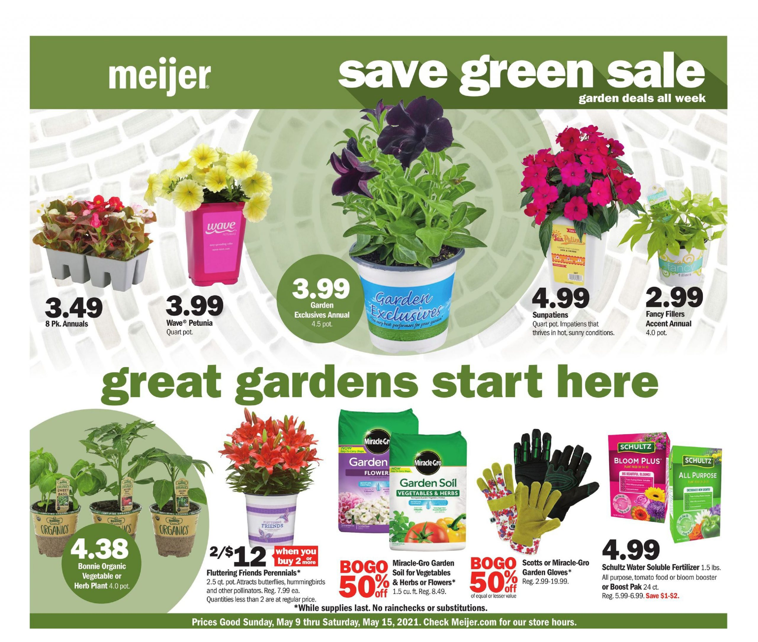 Meijer Garden Ad May 9 - May 15, 2021