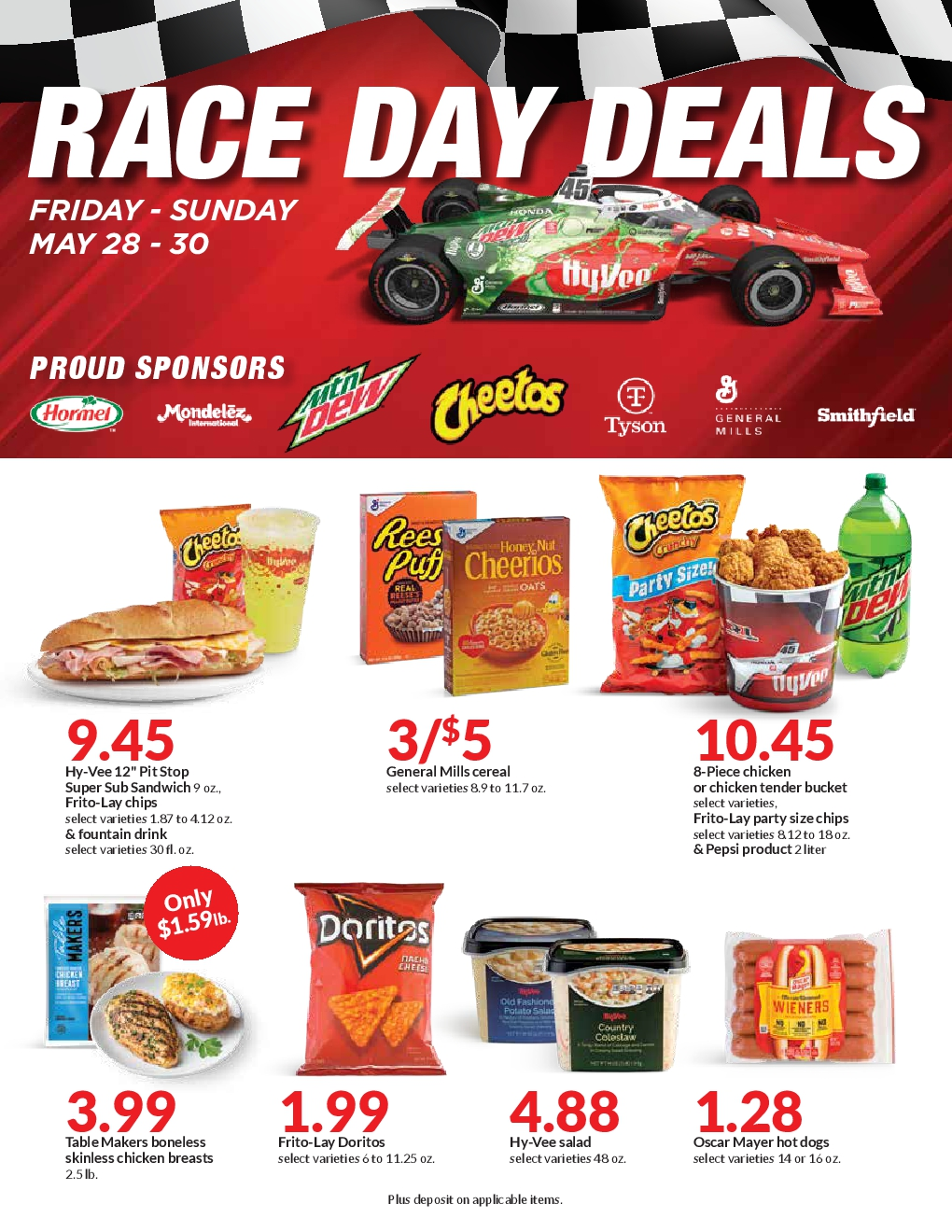 Hy vee 3-Day Race Day Deals 5/28/2021 - 5/30/2021