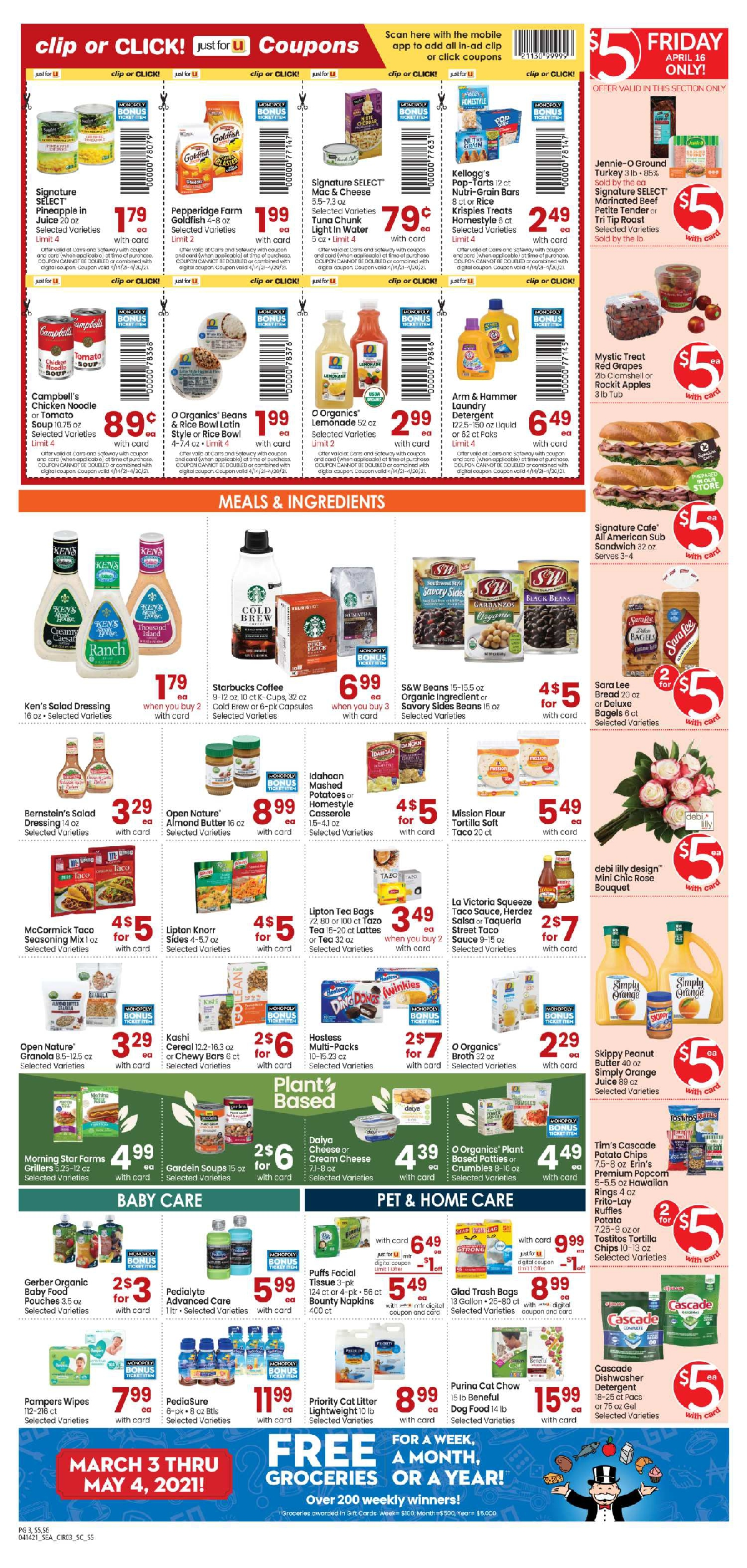 Carrs $5 Friday Ad April 16, 2021 Weekend Sale Preview