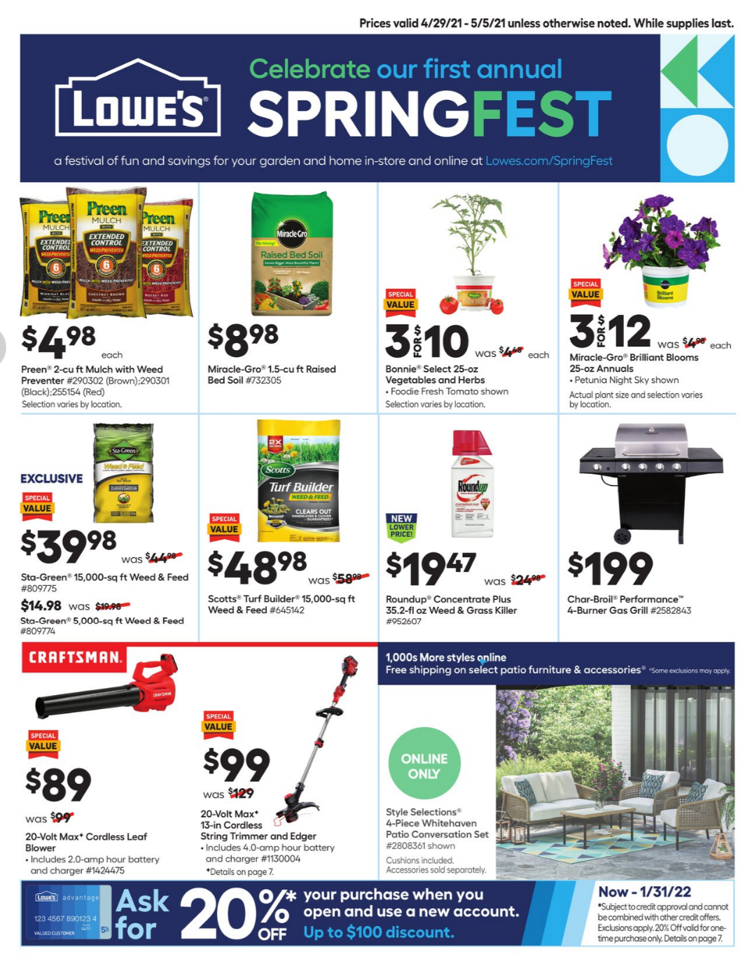 Lowes Weekly Ad Apr 29 – May 5, 2021 Sneak Peek Preview