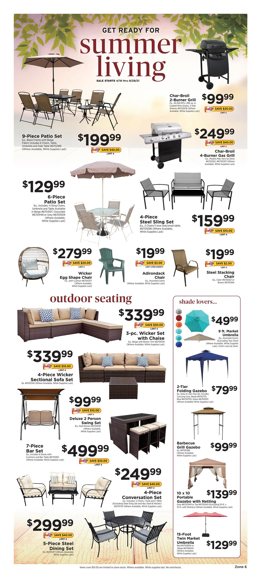 ShopRite Weekly ad April 18 - August 28, 2021 Get Ready for Summer Living