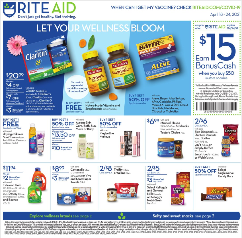 Rite Aid Weekly Ad Apr 18 - Apr 24, 2021 Sneak Peek Ad Preview