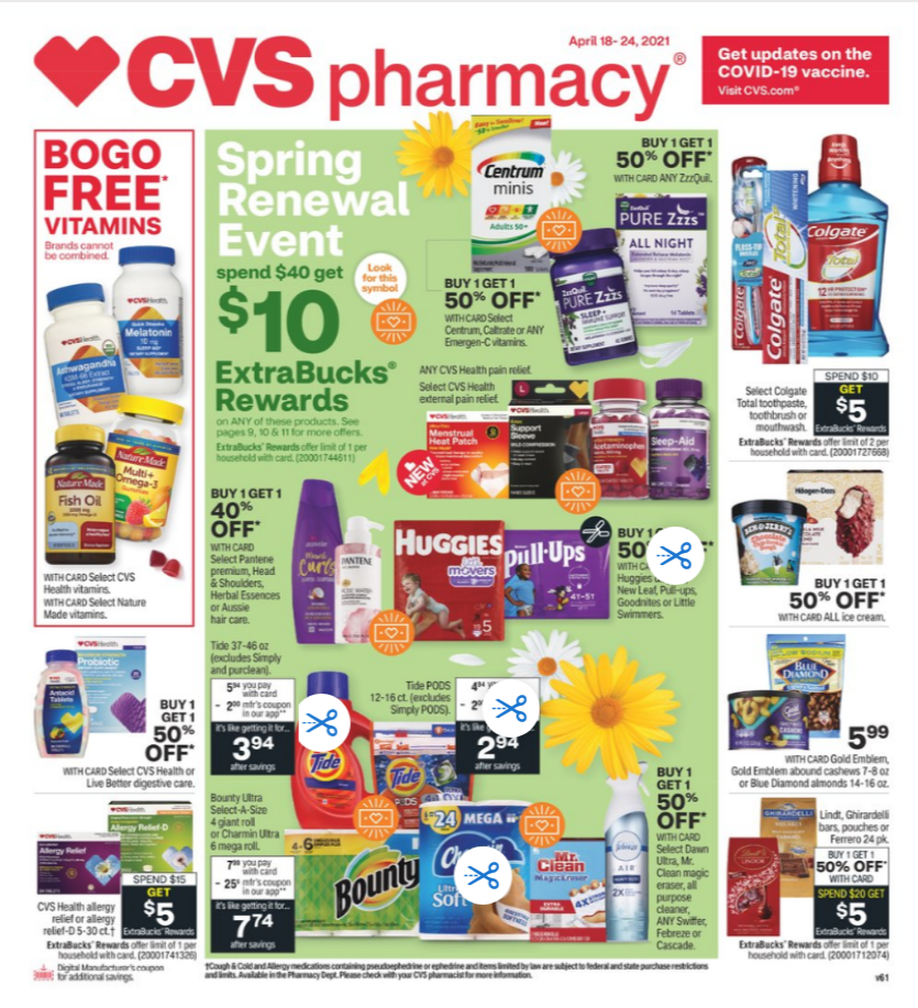 CVS Weekly Ad Apr 18 – Apr 24, 2021 Sneak Peek Preview