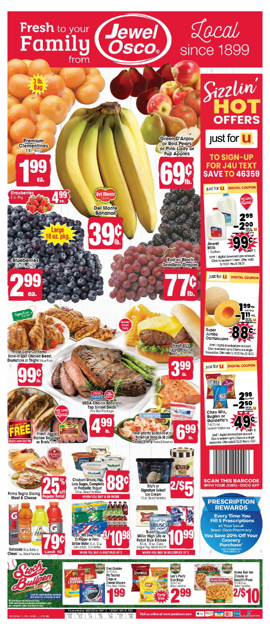 Jewel Osco Weekly Ad 5/12/21-5/18/21 Sneak Peek Preview