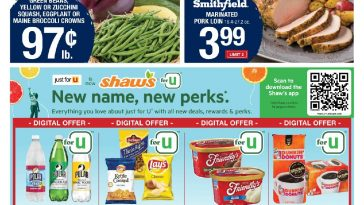 Shaws 3 Day Sale August 13 – August 15, 2021
