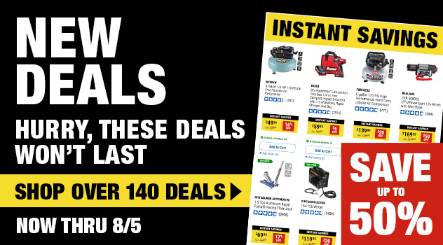 Harbor Freight Monthly Ad Thru August 5, 2021 Instant Savings Save Up To 50%