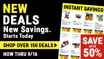 Harbor Freight Monthly Ad Thru September 16, 2021 Instant Savings Save Up To 50%