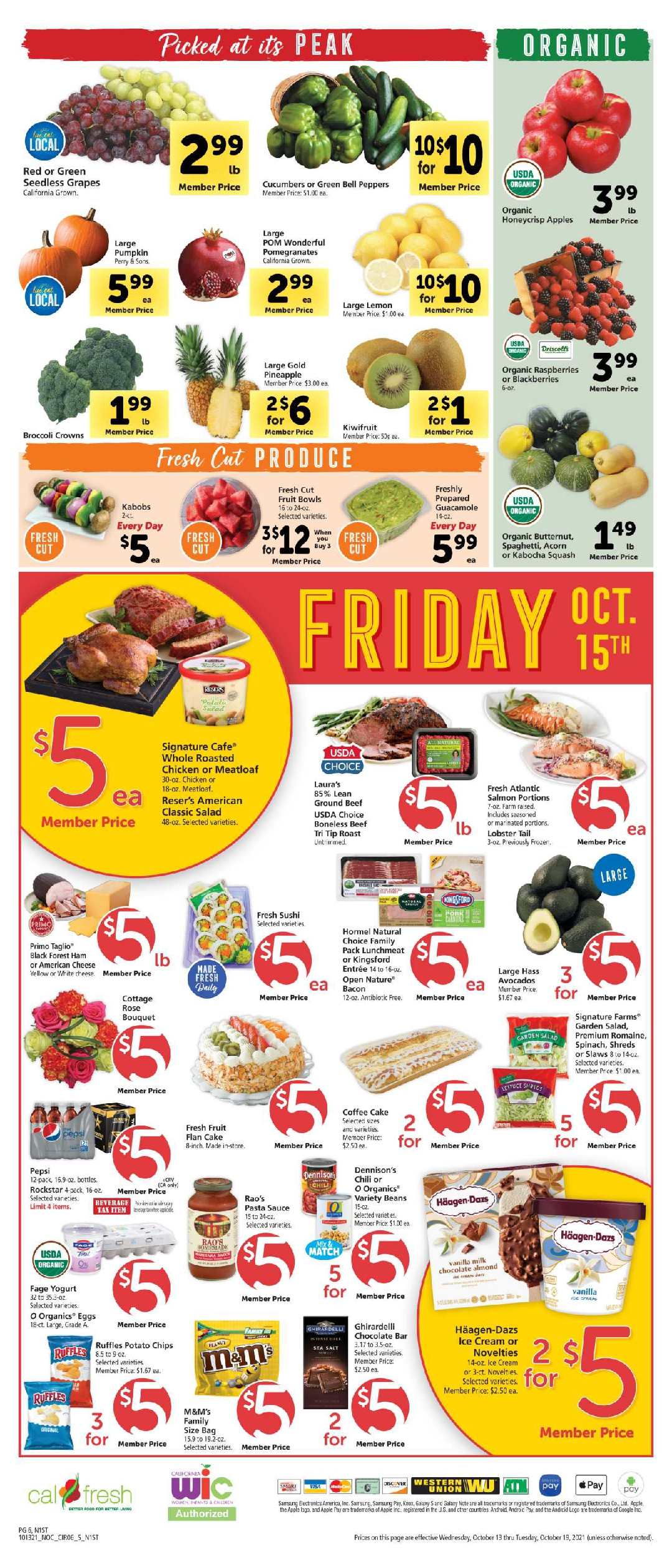 Safeway $5 Friday Ad October 8th, 2021 Weekend Deals Preview