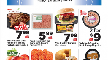 Weis Fantastic Friday Flyer October 15 - October 17, 2021 Three Day Sale