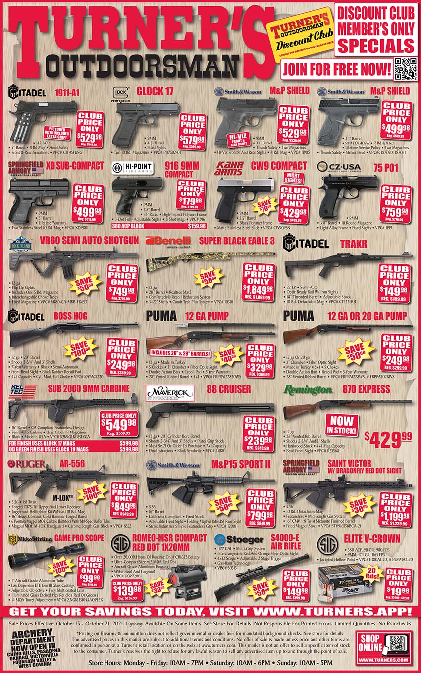 Turners Weekly ad October 15 - October 21, 2021 Turners Sale & Clearance